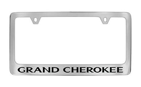 Amazon.com: Jeep Grand Cherokee Chrome License Plate Frame Holder ...