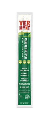 Vermont Smoke & Cure Meat Sticks- Antibiotic Free Beef & Pork -Gluten-Free Snack - Paleo and Keto Friendly - Cracked Pepper - 1oz Stick - 48 Count by Vermont Smoke and Cure (Image #3)