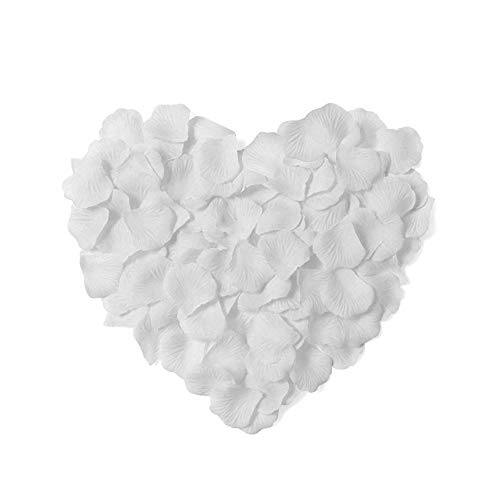 Neo LOONS 2000 Pcs Artificial Silk Rose Petals Decoration Wedding Party Color White