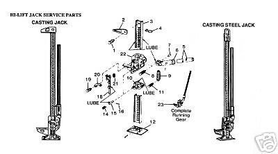 Hi-Lift 15-25 Replacement Steel Handle W/ Cotter Pin (Hi Lift Handle)