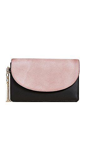 Diane von Furstenberg Women's Saddle Evening Clutch, Dusty Mauve/Black, One Size by Diane von Furstenberg