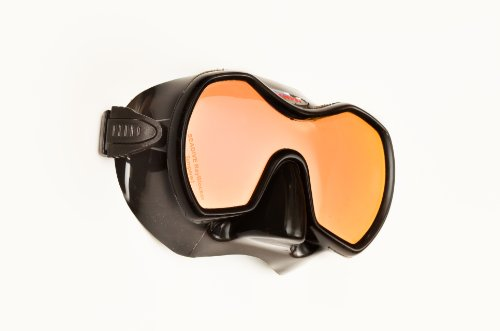 SeaDive Frameless Monarch Rayblocker-HD w/Anti-Fog Scuba/Spearfishing Dive Mask (SDM980BKSFL) (Dive Scuba Diving Mask W)