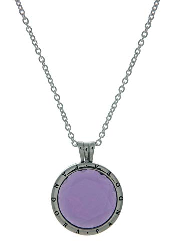 (Pandora Faceted Locket Necklace With Purple Synthetic Amethyst 397710SAM60)