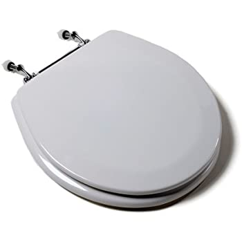 wooden white toilet seat. Comfort Seats C1B4R2 00CH Deluxe Molded Wood Toilet Seat With Chrome  Hinges Round 00BN