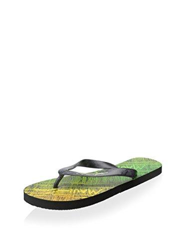 Maui & Sons Mens Grafisk Slide Flip-flops Svart