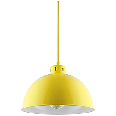 Sunlite CF/PD/S/Y Sona Residential Ceiling Pendant Light Fixtures with Medium (E26) Base, Yellow
