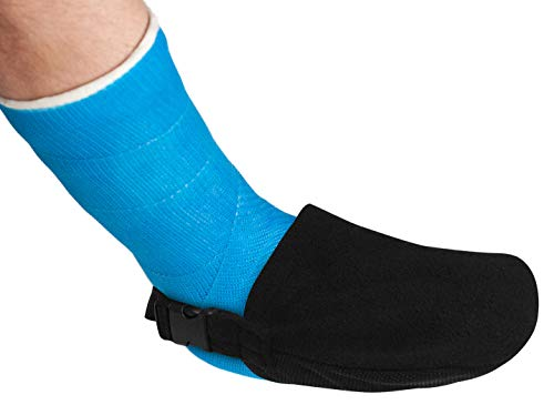 (Cast Toe Cover for Adults - Protector for Leg, Foot, or Ankle Casts - Lightweight and Soft While Durable and Secure - Cast Sock Protector (Fits Men and Women Shoe Size 6 to 14))