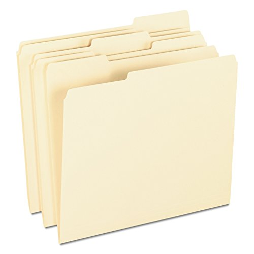 - Pendaflex 62699 Archival-Quality File Folders, 1/3 Cut Top Tab, Letter, Manila (Box of 100)