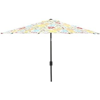 Pillow Perfect Spring Bling Multi 9 Foot Patio Market Umbrella