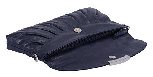 Bolsos Lemondo Noche Azul Oscuro De Cuero 30x14cm wPwE5qr0