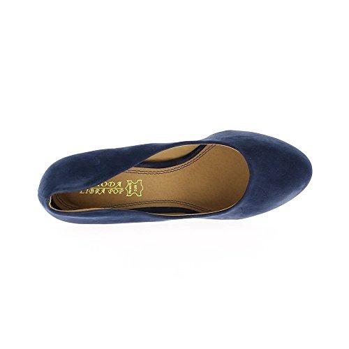Scarpe Blue con pelle scamosciata aspetto di 10cm con tacchi piattaforma