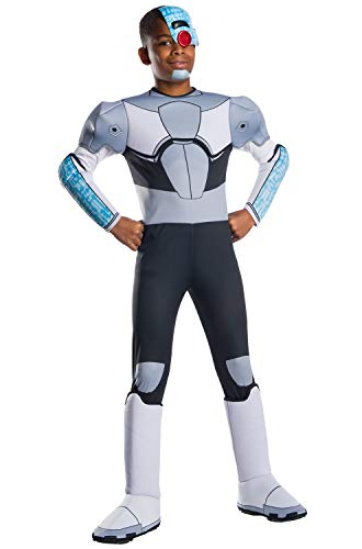 Rubie's Boys Teen Titans Go Movie Deluxe Cyborg Costume, Small