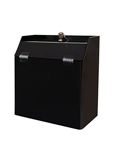 Marketing Holders Black Wall Mount Counter Top Ballot Lead Generation Locking Suggestion Box (pack of 1)