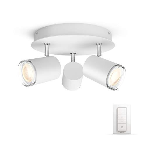Philips Hue Adore Badkameropbouwspot 3-Lichts – IP44 – Duurzame LED Verlichting – Warm tot Koelwit Licht – Incl. dimmer…