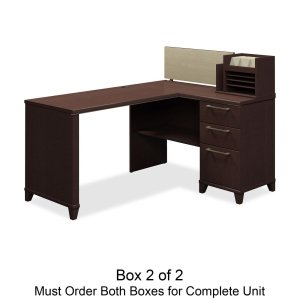 Empire Finish Table - Rue De Lyon Single Pedestal for Corner Desk Finish: Mocha Cherry Box 2 of 2