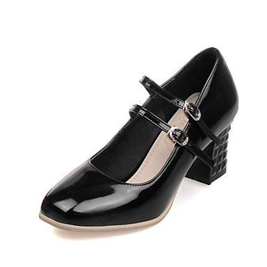 Women'S Square Heel Shoes Black amp;Amp; Career Dress Toe Chunky Office EU39 US8 Silver Heels UK6 CN39 Zormey Red g1dSwqxg