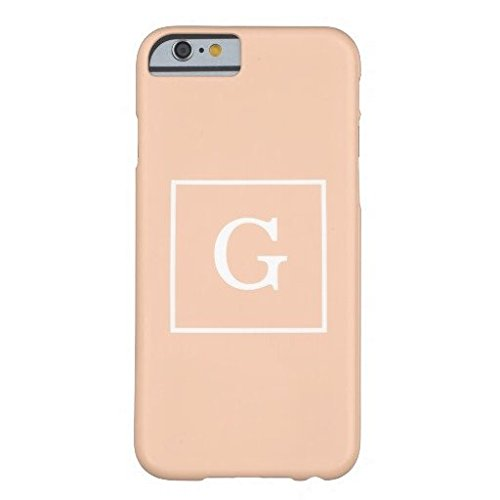 Apricot White Framed Initial Monogram IPhone 6/6s Plus Case Fashion Cover