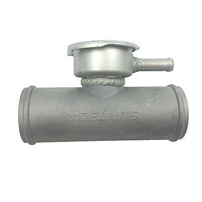 "ZM Aluminum Upper Inline Radiator Hose Filler Adapter Water Neck 1.5"" to 1.5"": Automotive"