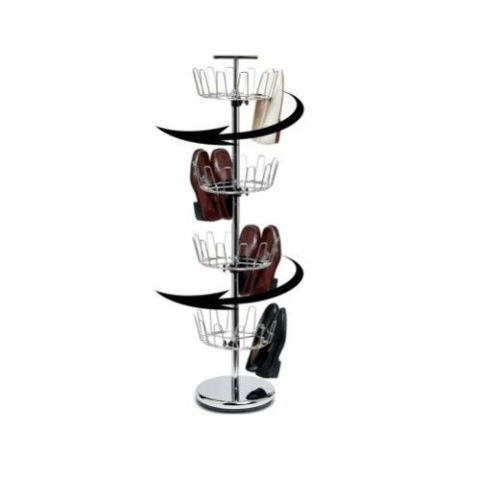 Household Essentials 2137 Revolving 4 Tier Jumbo Satin Nicke