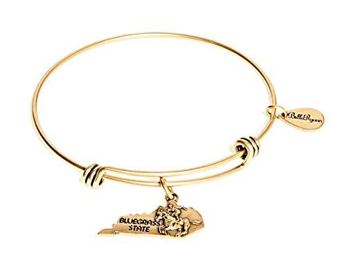 BellaRyann State Expandable Bangle Charm Bracelet in Vintage Gold (Kentucky)
