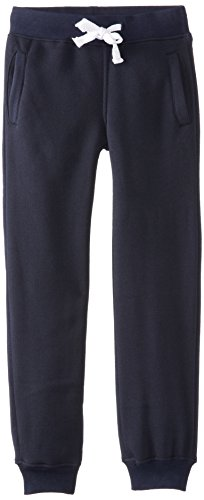 Southpole Boys' Big Active Basic Jogger Fleece Pants, Navy, Medium / 10-12