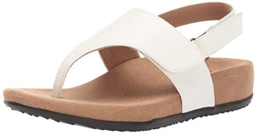 Trotters Women's PALOMA Sandal, White, 6.0 M US