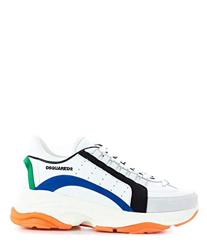 (DSQUARED2 Men's Snm004711570001m1575 White Leather Sneakers)