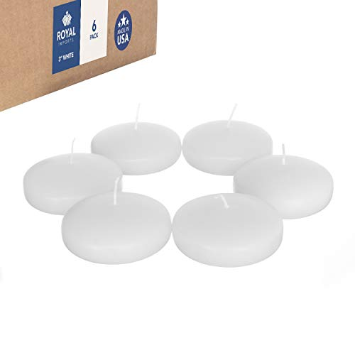 Pack 3 Floating Candles Scented - Royal Imports Floating disc Candles for Wedding, Birthday, Holiday & Home Decoration, 3 Inch, White Wax, Set of 6