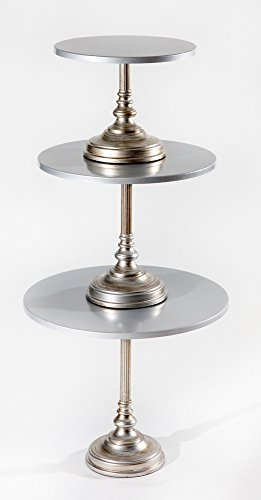 Simply Cakes, Set of 3 Cake Stands (Silver) -