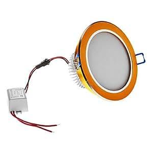 Dimmable 3W 210LM 6000-6500K Natural White Light Golden Shell LED Ceiling Bulb (220V)