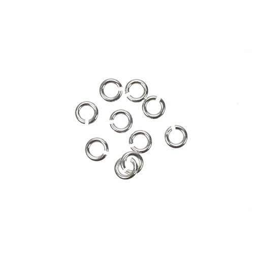 3mm Open Jump Rings 925 Sterling Silver 0.6mm Thick PK10 Beads Jar
