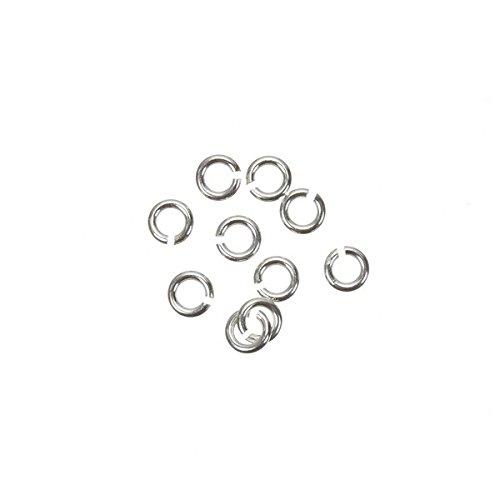 3/mm /öffnen Jump Ringe 925/Sterling Silber 0,6/mm dick PK10