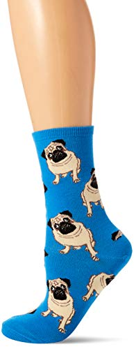 Socksmith Womens Pugs Blue One Size 1 pair
