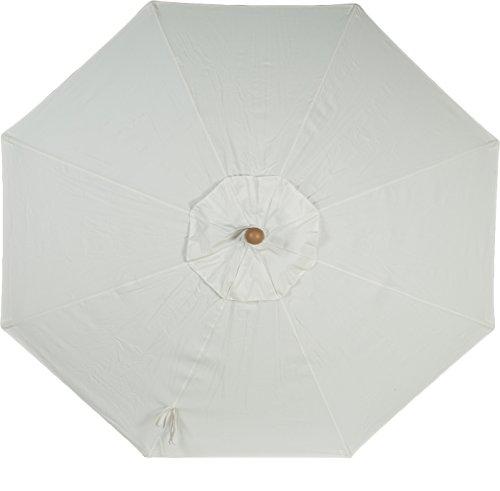 9ft 8 Ribs Market Umbrella Replacement Canopy (Sunbrella- Natural)