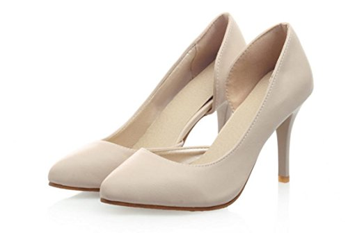 YCMDM Nuovo singolo SCARPE DONNA sandali degli alti talloni , beige , 37