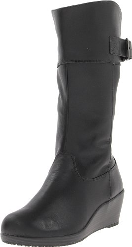 Women's Leather leigh Black Black Black A Crocs Boots wTxFO4qqS