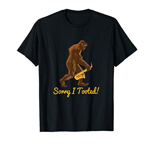 Sorry I Tooted Funny Marching Band Saxophone Player Gift T-Shirt