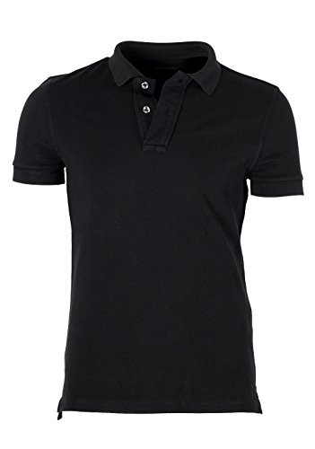 CL - Tom Ford Black Piquet Short Sleeve Polo Shirt Size 44/34R - Tom Polo Ford