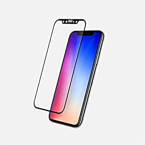VITA 3D Glass Tempered Protection Scratch Proof for Iphone X, Black, V3DSP