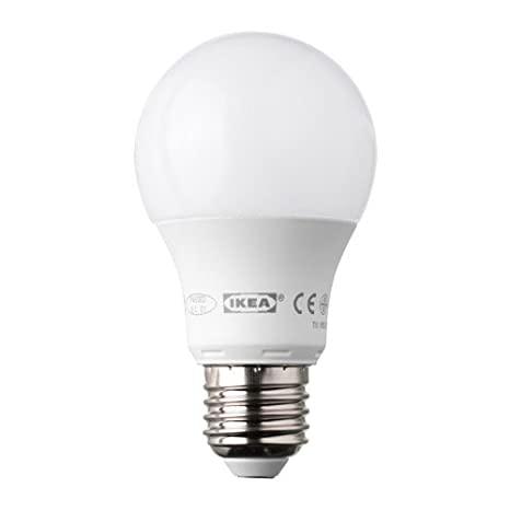 IKEA ledare bombilla LED E27 400 lúmenes 6,3 W regulable globo Ópalo blanco: Amazon.es: Iluminación