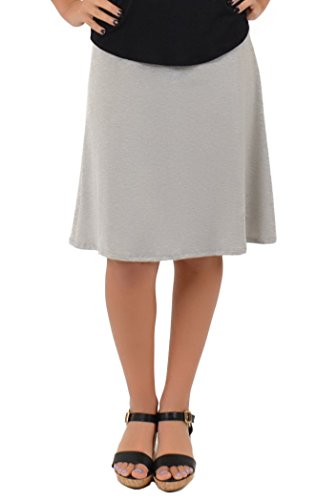 Stretch is Comfort Women's A-Line Skirt Heather Gray 3X