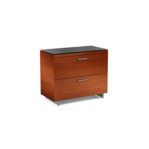 Cherry Bdi Cabinet - BDI 6016 CH Sequel Lateral File Cabinet, Natural Cherry