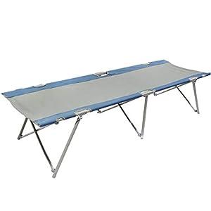 Homecall Letto pieghevole da campeggio colore grigio/blu 7 spesavip