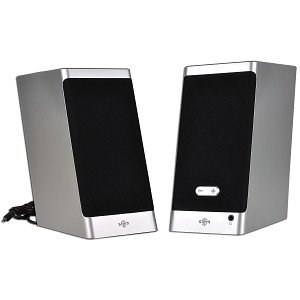 Stem Tandem UDA-PAO-00 2-Piece 2 Channel USB Multimedia Speakers (Silver/Black) - Perfect Match for