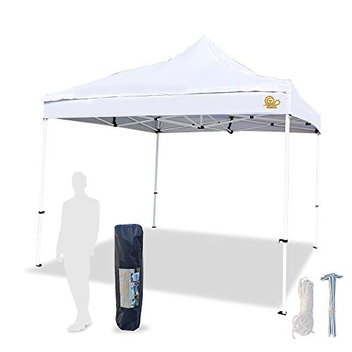 GZAILCANOPY Canopy Tent Pop up Canopy Outdoor Canopy Commercial Instant Shelter 10x10 (White)