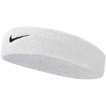 Nike Swoosh Headband (White/Black, OSFM)