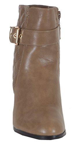 trendBOUTIQUE - Zapatillas de caña alta de material sintético mujer, color gris, talla 41