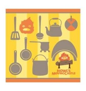 Marushin Studio Ghibli Howls Moving Castle Mini towel Heen /& Moving Castle 25/×25cm from Japan