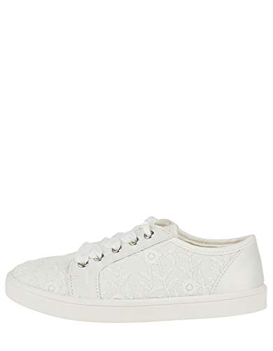 Monsoon Katie Lace Up Bridal Trainer - US 3 Shoe Ivory from Monsoon