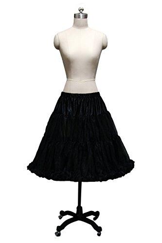 Beautygowns Women's Fashion Short Petticoat Underskirt Slips Black-L-XL